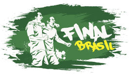 Brasil final. Signs for t-shirts, stickers, flyers and web banners Royalty Free Stock Images