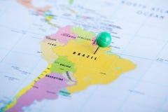 Brasil fixou no mapa imagens de stock royalty free