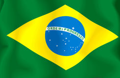 Brasil Flag Royalty Free Stock Photos
