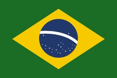Brasil flag flat vector. Brasil flag flat style  , background vector illustration graphic design royalty free illustration