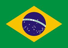brasil flagga royaltyfri illustrationer