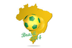 Brasil Football 2014 landscape. Brasil Football for the World Cup 2014 with landscape Stock Images