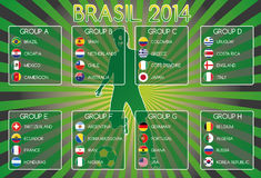 Brasil 2014 Groups Stock Photos