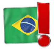 Brasil Icon BUtton Symbol Royalty Free Stock Photo