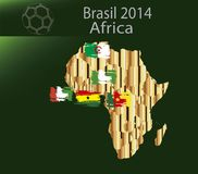 Brasil 2014 land Africa. Brasil 2014 fotball world cup  land groups Stock Image