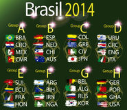 Brasil 2014 land groups. Brasil 2014 fotball world cup  land groups Royalty Free Stock Photography