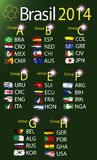 Brasil 2014 land groups. Brasil 2014 fotball world cup  land groups Stock Photography