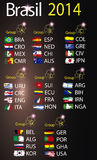 Brasil 2014 land groups. Brasil 2014 fotball world cup  land groups Stock Image