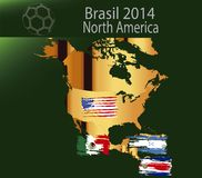 Brasil 2014 land North america. Brasil 2014 fotball world cup  land groups Royalty Free Stock Photography