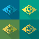 Brasil logo and signs. Brasil signs and logos for T-shirts or web sites Stock Image