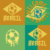 Brasil logo and signs Royalty Free Stock Image