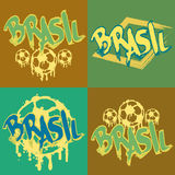 Brasil logo and signs. Brasil signs and logos for T-shirts or web sites Royalty Free Stock Images