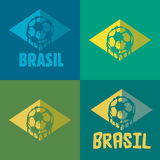 Brasil logo and signs. Brasil signs and logos for T-shirts or web sites Stock Photo