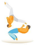 Brasil. martial arts. fighter beats foot Stock Photos
