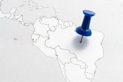 Brasil no mapa Fotos de Stock Royalty Free