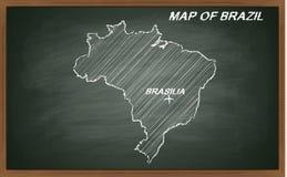 Brasil no quadro-negro Imagem de Stock Royalty Free