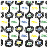 3brasil pattern set 2016 rio. Ipanema beach pattern set. Vector illustration. Brasil style pattern Stock Images