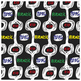 3brasil pattern set 2016 rio. Ipanema beach pattern set. Vector illustration. Brasil style pattern Royalty Free Stock Image