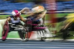 Brasil - Rio De Janeiro - Paralympic game 2016 1500 meter athletics. Brasil - Rio De Janeiro - Paralympic game 2016 athletics 1500 meter royalty free stock images