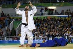 Brasil - Rio De Janeiro - Paralympic game 2016 judo. Rovshan Safarov - Azerbaigian bronze madail royalty free stock images