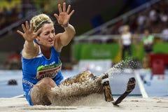 Brasil - Rio De Janeiro - Paralympic game 2016 maracanà. Brasil - Rio De Janeiro - Paralympic game 2016 woman long jump - Martina Caironi royalty free stock image
