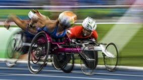 Brasil - Rio De Janeiro - Paralympic game 2016 1500 meter athletics. Brasil - Rio De Janeiro - Paralympic game 2016 athletics 1500 meter stock photography