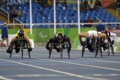Brasil - Rio De Janeiro - Paralympic game 2016 1500 meter athletics. Brasil - Rio De Janeiro - Paralympic game 2016 athletics 1500 meter stock image