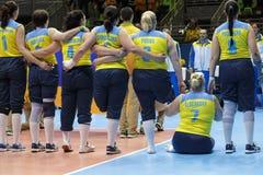 Brasil - Rio De Janeiro - Paralympic game 2016 volleyball. Brasil - Rio De Janeiro - Paralympic game 2016 volleybal - ukraina vs nederland stock images