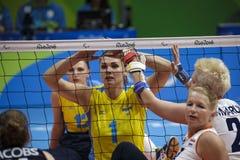 Brasil - Rio De Janeiro - Paralympic game 2016 volleyball. Brasil - Rio De Janeiro - Paralympic game 2016 volleybal - ukraina vs nederland royalty free stock photo
