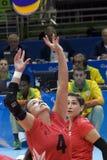 Brasil - Rio De Janeiro - Paralympic game 2016 volleyball. Brasil - Rio De Janeiro - Paralympic game 2016 volleybal - canada vs brasil royalty free stock images