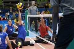 Brasil - Rio De Janeiro - Paralympic game 2016 volleyball. Brasil - Rio De Janeiro - Paralympic game 2016 volleybal - canada vs brasil royalty free stock image