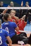 Brasil - Rio De Janeiro - Paralympic game 2016 volleyball. Brasil - Rio De Janeiro - Paralympic game 2016 volleybal - canada vs brasil stock photos