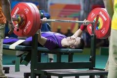 Brasil - Rio De Janeiro - Paralympic game 2016 weight lifting. Brasil - Rio De Janeiro - Paralympic game 2016 the weight lifting stock images