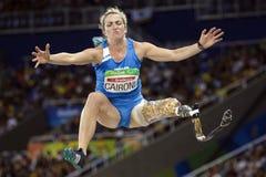 Brasil - Rio De Janeiro - Paralympic game 2016 maracanà. Brasil - Rio De Janeiro - Paralympic game 2016 woman long jump - Martina Caironi stock photo