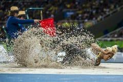 Brasil - Rio De Janeiro - Paralympic game 2016 maracanà. Brasil - Rio De Janeiro - Paralympic game 2016 woman long jump - Vanessa Low stock images