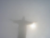 Brasil - Rio's Redentor. Statue of the Jesus Christ The Redentor on Corcovado hill in Rio de Janeiro (Brasil royalty free stock photo