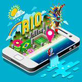 Olympics and Paralympics Game Summer Infographic 3D Isometric Vector Illustration Stock Photo