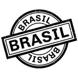 Brasil rubber stamp. Grunge design with dust scratches. Effects can be easily removed for a clean, crisp look. Color is easily changed stock illustration