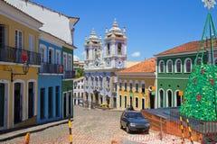 brasil salvador A igreja azul fotografia de stock royalty free