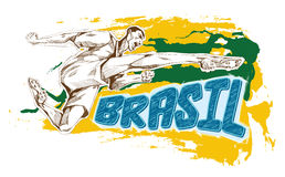 Brasil sign for T-Shirts. Brasil signs and logos for T-shirts or web sites Royalty Free Stock Photos