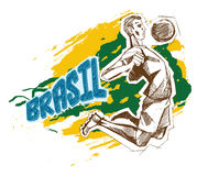 Brasil sign for T-Shirts Stock Photography