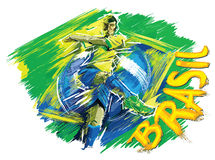 Brasil sign for T-Shirts. Brasil signs and logos for T-shirts or web sites Stock Photography