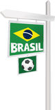 Brasil sign. Wooden soccer sign Brasil royalty free illustration