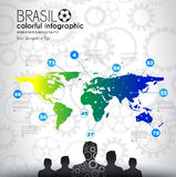 Brasil soccer abstract background for poster. S, covers or flyers royalty free illustration