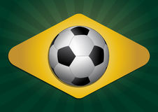 Brasil soccer ball Royalty Free Stock Image