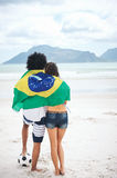 Brasil soccer fans Stock Photography
