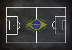 Brasil 2014 soccer game. With blackboard Royalty Free Illustration