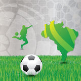 Brasil Soccer green background Royalty Free Stock Images