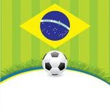 Brasil Soccer green background Stock Image