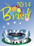 Brasil 2014 stadium Obrazy Stock